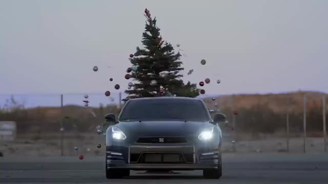 Watch and share Chris Forsberg's Nissan GT-R Christmas Tree Undecorating | Donut Media GIFs on Gfycat