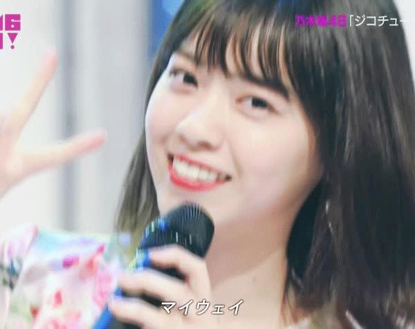Idol, Naachan, Nishino Nanase, Nogizaka46, Peace, Smile, V, Naachan peace GIFs