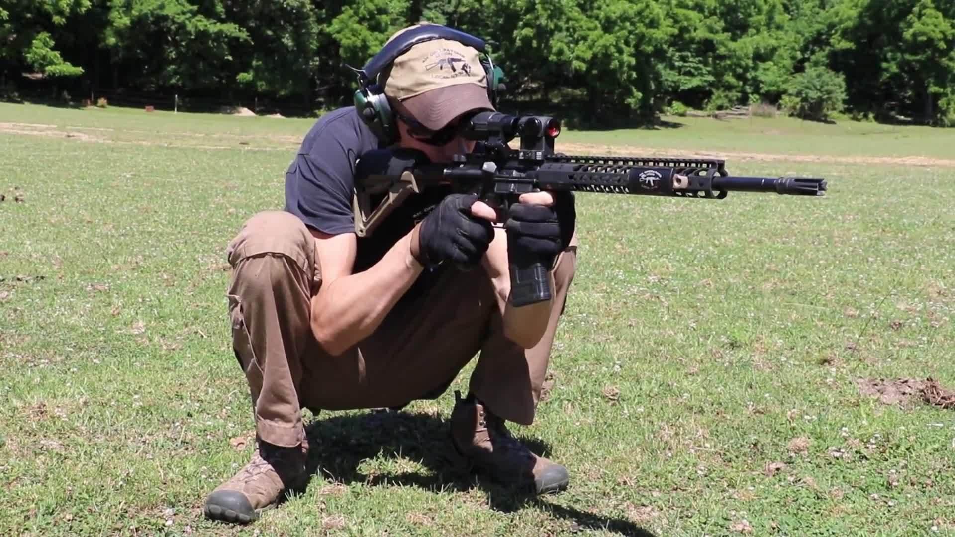 fullmetalgunnit, slavs_squatting, Shooting AR-15 while slav squatting GIFs