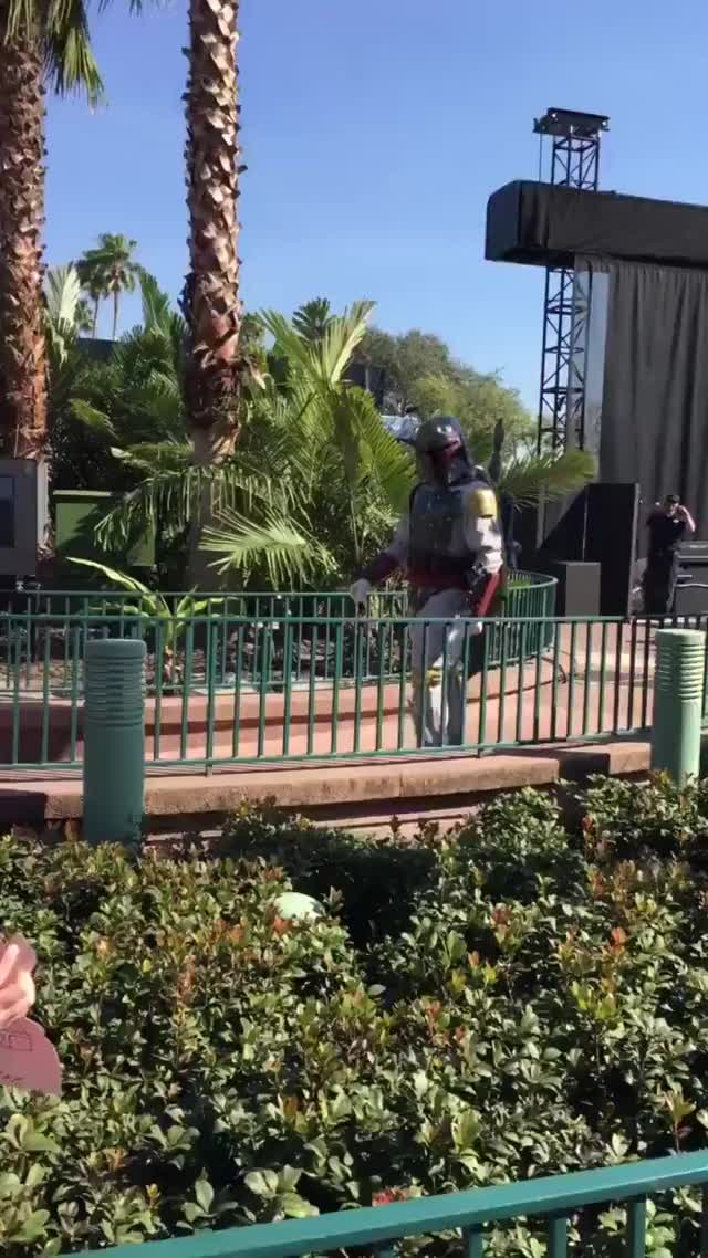 Watch and share An Explosive Encounter With Boba Fett At Walt Disney World GIFs by meskal on Gfycat