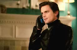 Watch and share Leather Jacket GIFs and White Collar GIFs on Gfycat