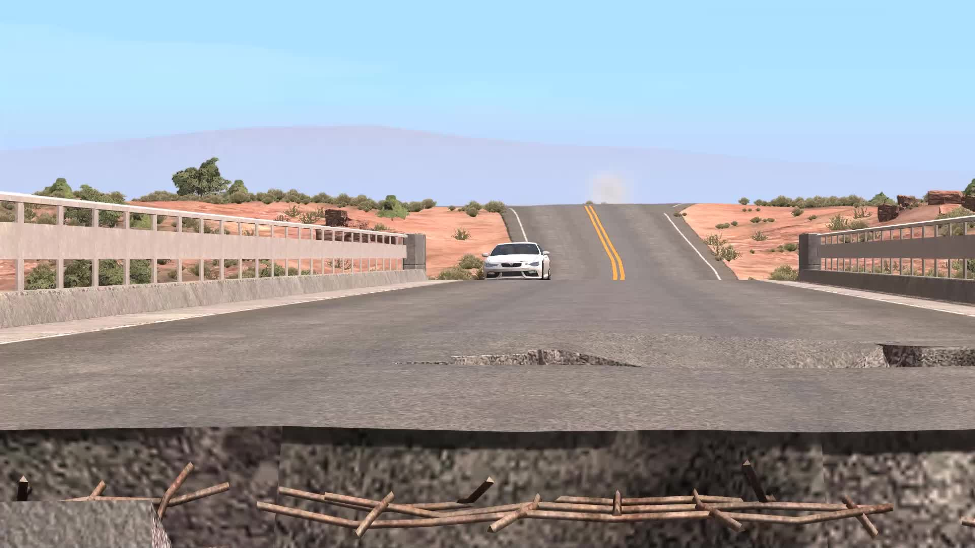 BeamNG, Parking stunt, Serzari, Stunt driving, BeamNG Broken Bridge Parking Stunt GIFs