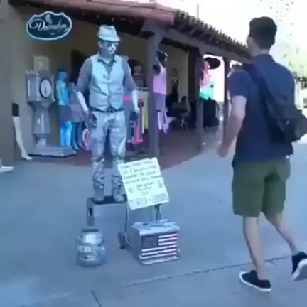 Watch and share Street Performer And A Man With The Same Skill Set Put On A Show GIFs by wild_cheesecake on Gfycat