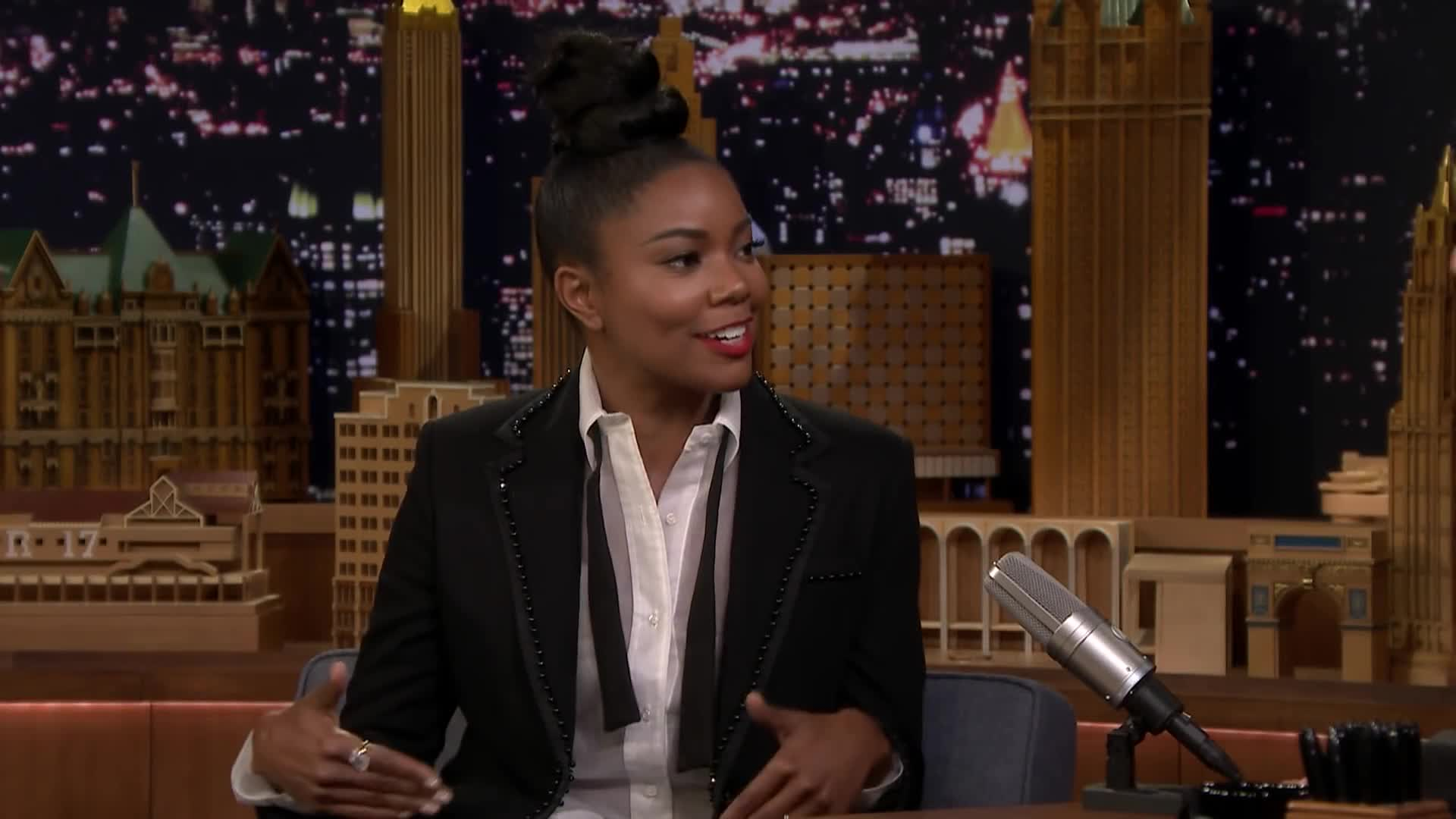 Breaking In, Gabrielle Union, The Tonight Show, Gabrielle Union Is a Mom Who Is All Capable and Stuff in Breaking In GIFs