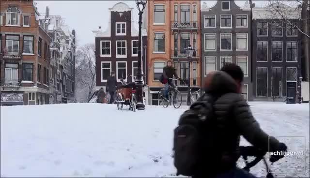 130115 amsterdam snow GIFs