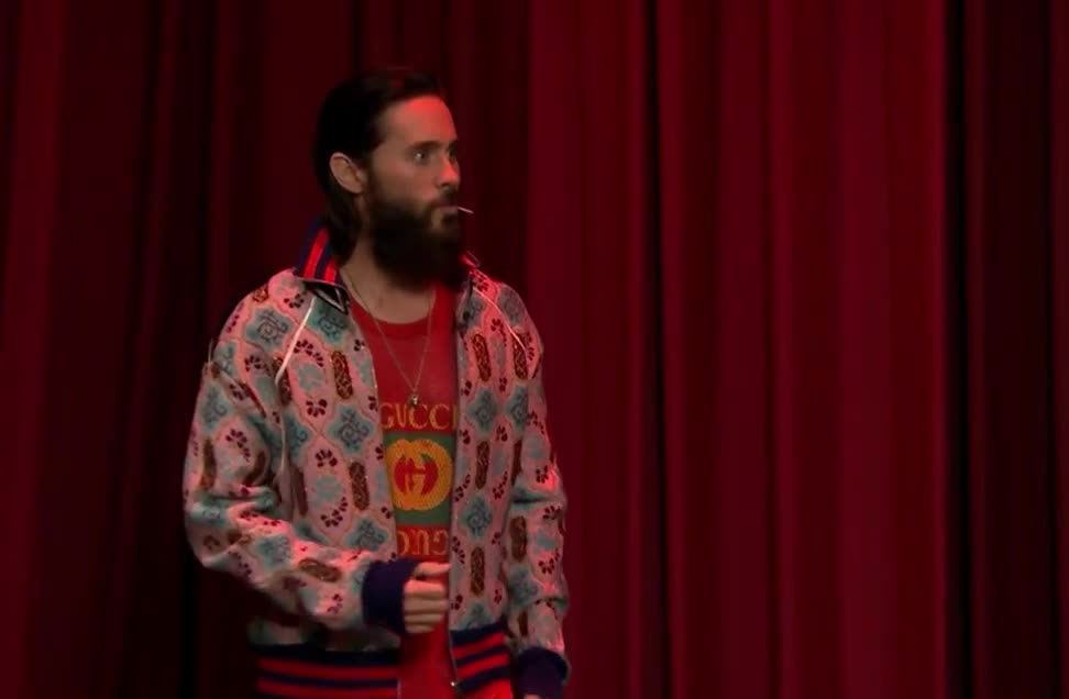 bingo, bro, cool, fallon, funny, hipster, in, jared, jimmy, leto, ok, show, story, tonight, walk, yes, Cool story bro - Jared Leto GIFs