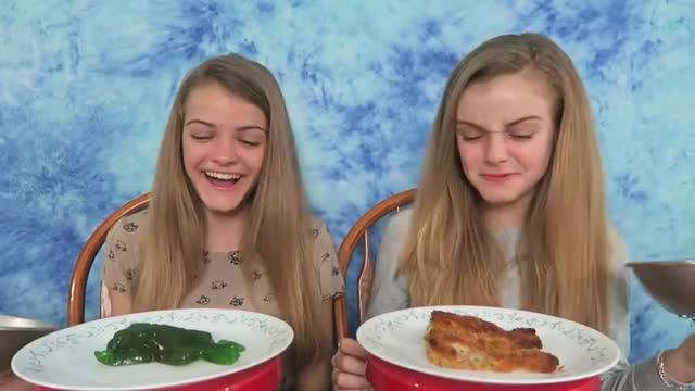 Real Food vs Gummy Food Challenge #2 ~ Jacy and Kacy