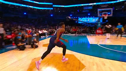 Watch and share Dennis Smith Jr. Ft. Stephen Curry And Dwyane Wade — 2019 Slam Dunk Contest GIFs by Off-Hand on Gfycat