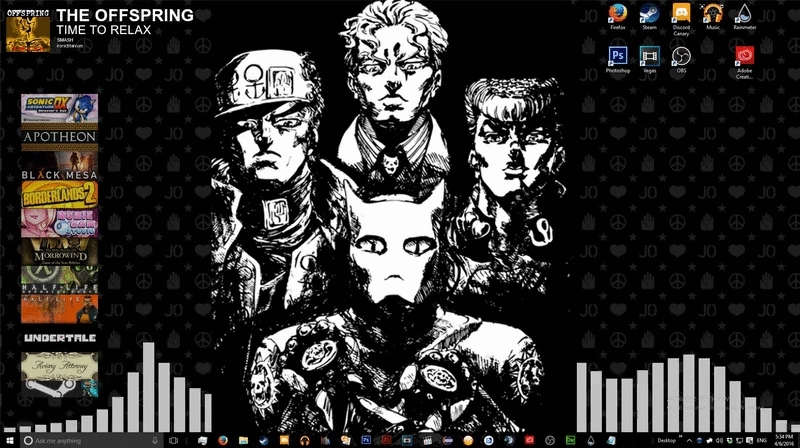 StardustCrusaders, rainmeter, Diamond is Unbreakable Rainmeter GIFs