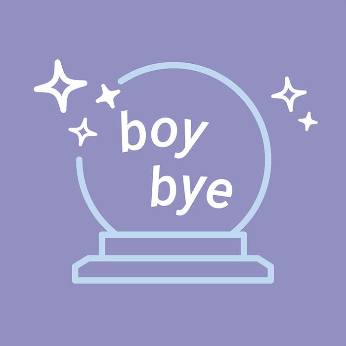 boy bye, bye, christina lu, crystal ball, gtfo, leave me alone, Boy Bye GIFs