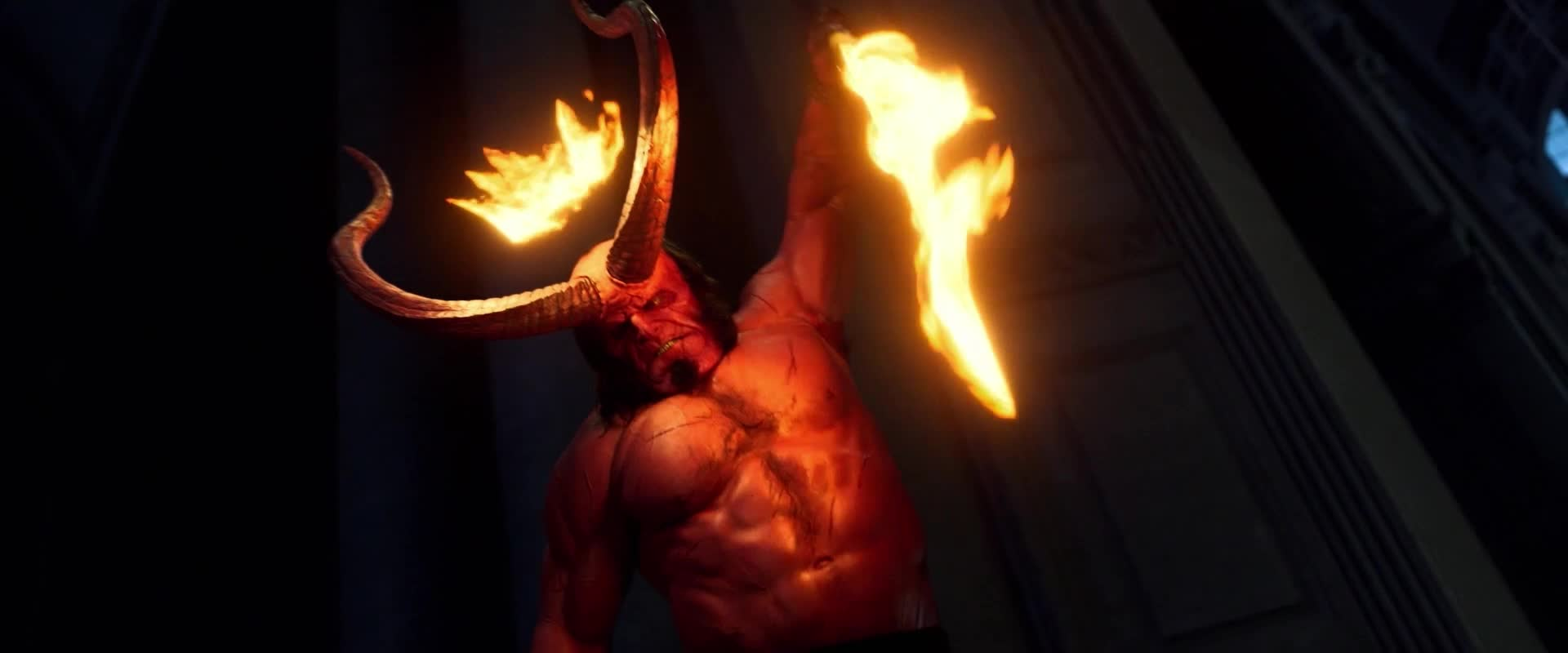 dark horse, dark horse comics, david harbour, hellboy, hellboy 2019, hellboy movie, milla jovovich, superhero, superheroes, Hellboy Teaser GIFs