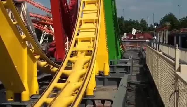 Olympia Looping POV Largest Most INTENSE Traveling Roller