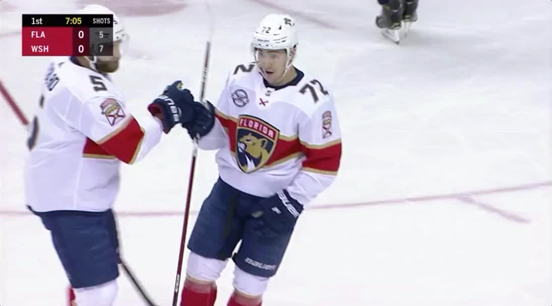 hockey, sports, FL Panthers first goal hug GIFs