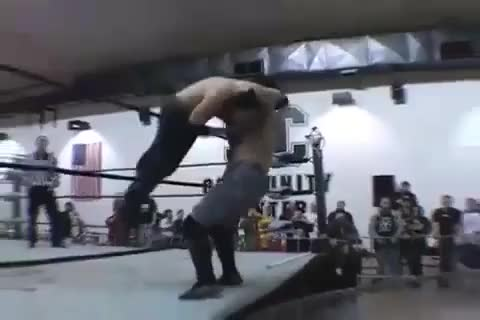 Watch One of the most unique creations I've ever seen in wrestling: a barbed wire trampoline (reddit) GIF on Gfycat. Discover more SquaredCircle, squaredcircle GIFs on Gfycat