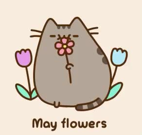 Watch this flowers GIF by GIF Queen (@ioanna) on Gfycat. Discover more cat, cute, flowers, may, pusheen, sweet GIFs on Gfycat