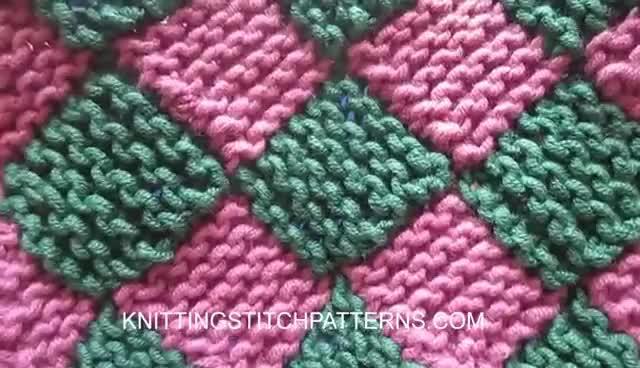 Garter Entrelac Knitting