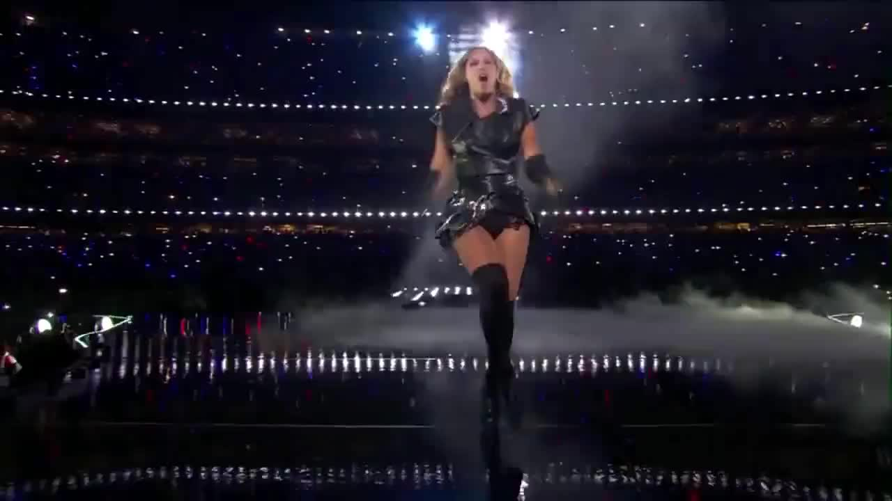 Beyoncé Walking Superbowl GIFs