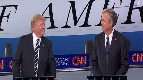 High Five Jeb and Trump GIFs