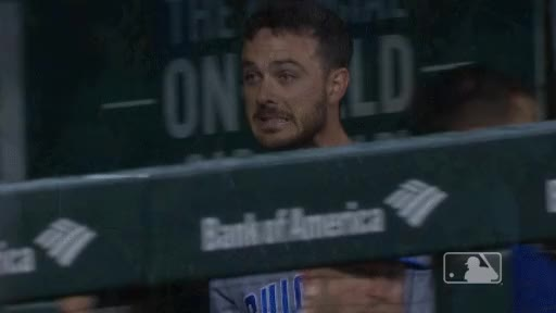 Watch 050618 mlb chcstl bryant dugout reaction med GIF by @chewalk on Gfycat. Discover more related GIFs on Gfycat
