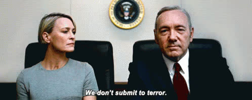 kevin spacey, We Don't Submit To Terror GIFs