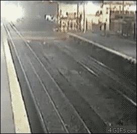 traingifs, Trains bus collision GIFs