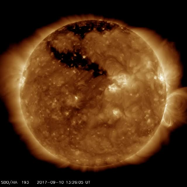 Watch and share SDO/AIA 193 - X8.2 Solar Flare On September 10, 2017 GIFs by The Watchers on Gfycat