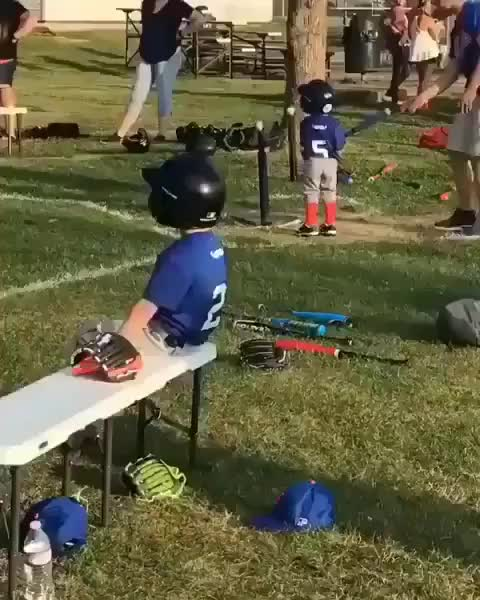 funny, kid, fall, Kid slow fall off of bench GIFs