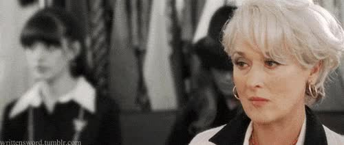 Watch miranda priestly GIF on Gfycat. Discover more meryl streep GIFs on Gfycat