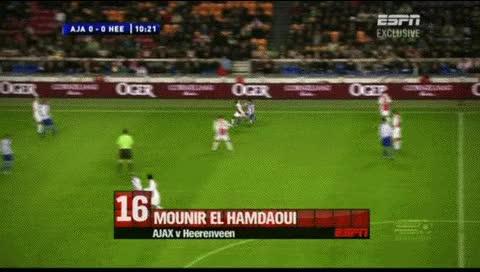 Watch and share Mounir El Hamdaoui. Ajax - Heerenveen. 2010-11 - 2 GIFs by fatalali on Gfycat