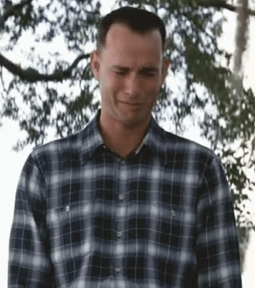 crying, forrest gump, sad, tear, tom hanks, Forrest Gump Crying GIFs