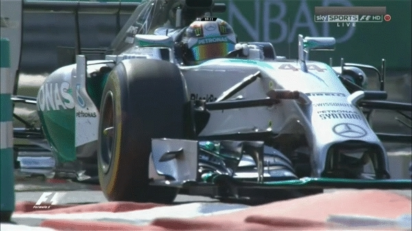 formula1gifs, 2014 - Hamilton attacking the chicane in slow motion. (reddit) GIFs