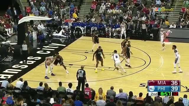 Watch Ben Simmons Highlights vs Heat (10.13.17) | 19 Pts, 7 Rebs, 5 Asts GIF on Gfycat. Discover more 76ers, Ben Simmons, Sixers GIFs on Gfycat