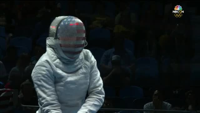 Watch Muhammad of the U.S. makes history in opening fencing bout GIF by solateor (@solateor) on Gfycat. Discover more gifs, olymgifs, united states GIFs on Gfycat