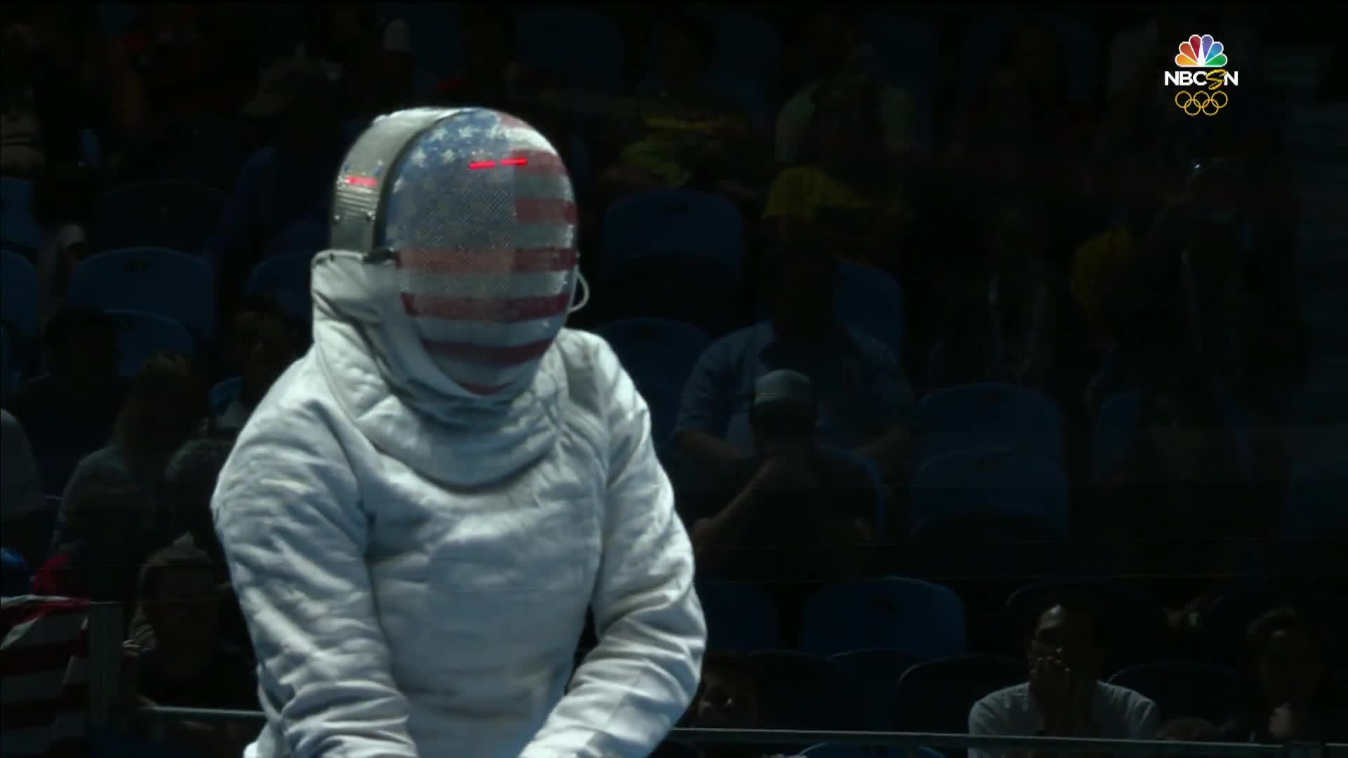 gifs, olymgifs, united states, Muhammad of the U.S. makes history in opening fencing bout GIFs
