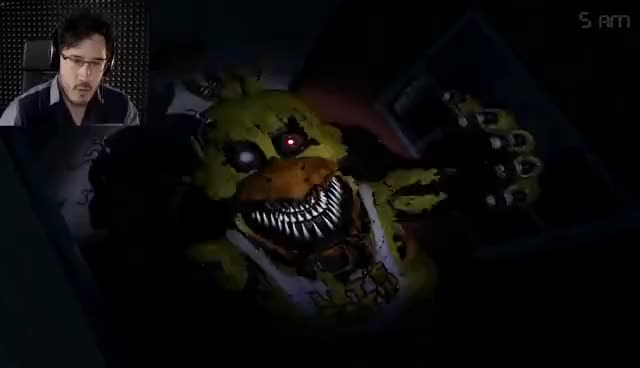 Watch and share NIGHTMARE CHICA JUMPSCARE GIFs on Gfycat