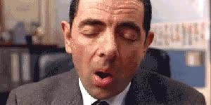 Watch half asleep GIF on Gfycat. Discover more rowan atkinson GIFs on Gfycat