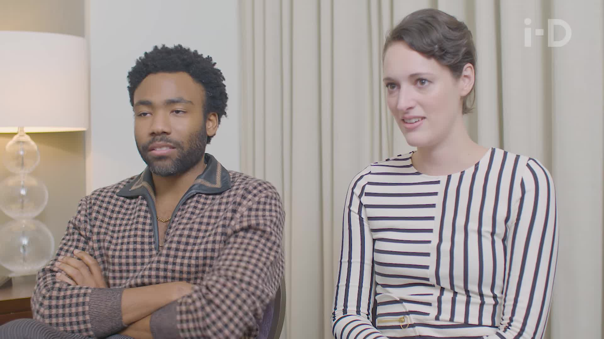 donald glover, i-D, phoebe waller-bridge, reaction gif, shocked, Donald Glover on Playing 'This Is America' on the Millennium Falcon GIFs