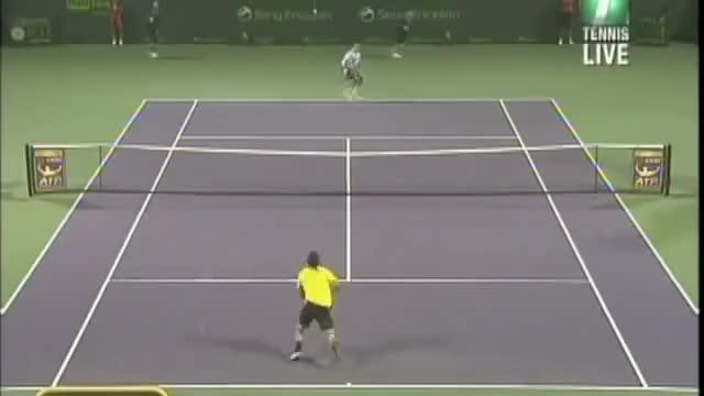 Watch Gonzalez smashes ball into Stepanek's bottom GIF by @yellowbal on Gfycat. Discover more Fernando, Gonzalez, Miami, Open, Radek, Stepanek, Tennis, big, funny, smash GIFs on Gfycat