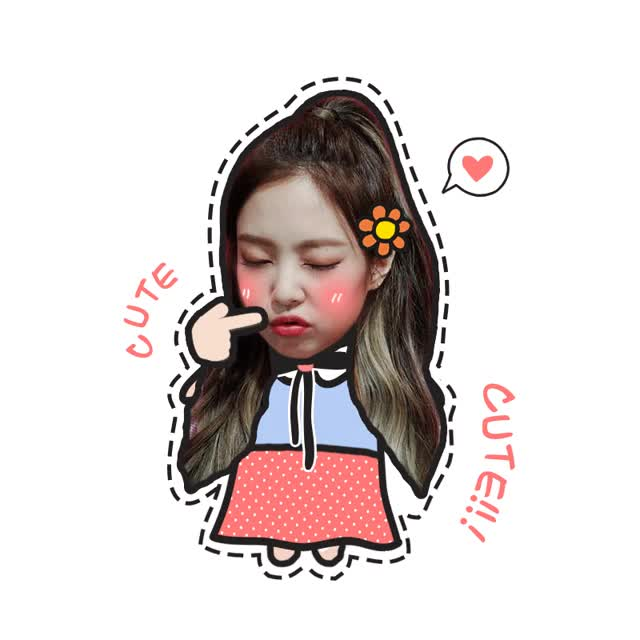 Watch and share Jennie animated stickers on Gfycat