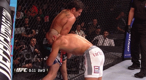 MuayThai, mma, MMA fighters are finally picking up on the effectiveness of standing elbows. Another joins the standing elbow club (reddit) GIFs