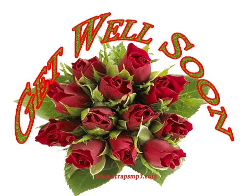 Watch and share Beautiful Rose Bouquet Get Well Soon Graphic | Imagefully.com animated stickers on Gfycat
