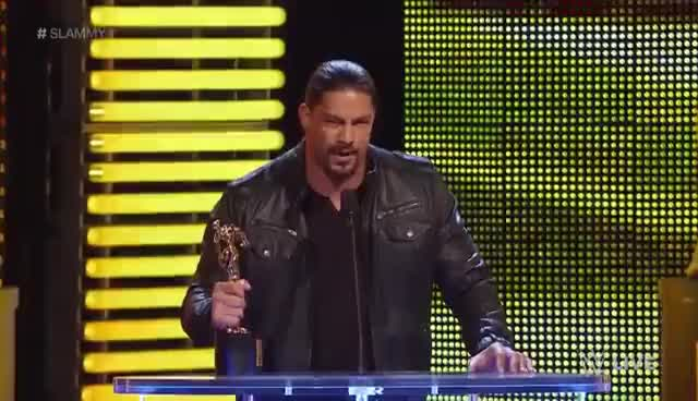 Watch Roman Reigns GIF on Gfycat. Discover more Reigns, Roman, Slammys GIFs on Gfycat
