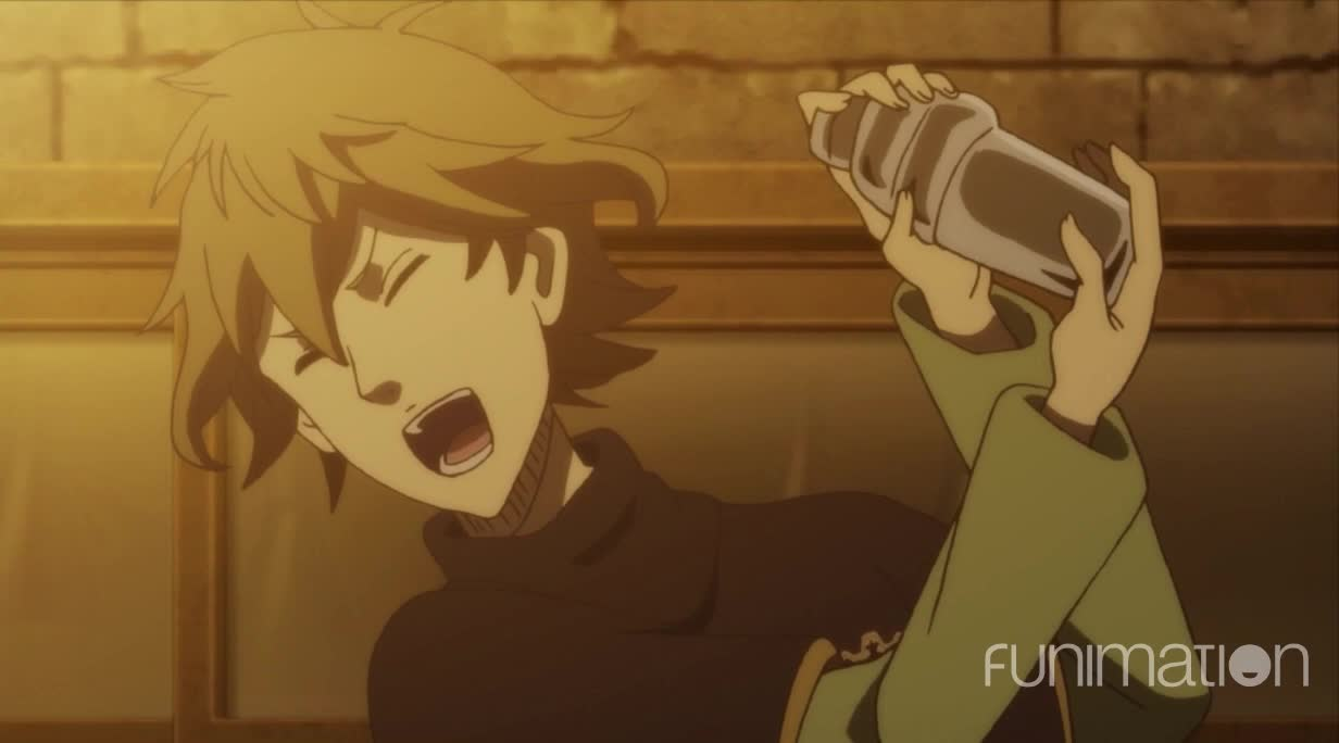 action, anime, black clover, black clover episode 39, funimation, shakin' up some drinks GIFs
