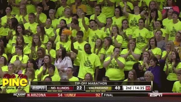 sad valpo pom pom college basketball fan gifs GIFs