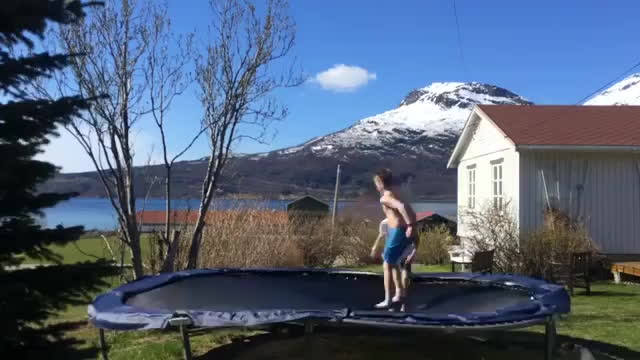 FullScorpion, That's one way to leave a trampoline GIFs