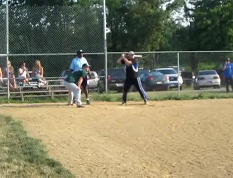 Watch HR GIF on Gfycat. Discover more gsl, home run, mott, slow pitch, softball GIFs on Gfycat