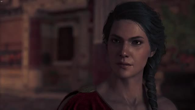 Kassandra uh no What no What Uh no Nope No Kassandra Blinking Assassin's Creed Odyssey Assassin's Creed trending GIF