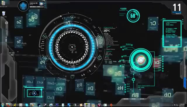 Watch and share (Iron Man) Jarvis 1.0 Animated Background/Desktop GIFs on Gfycat