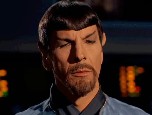 Watch and share Mirror!Spock #tos GIFs on Gfycat