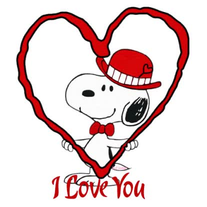 Watch and share Valentine Snoopy animated stickers on Gfycat